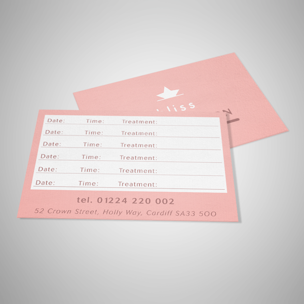 appointment cards uncoated print swansea