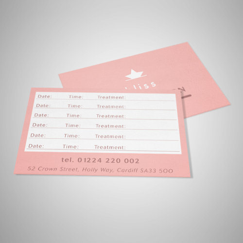 appointment cards uncoated